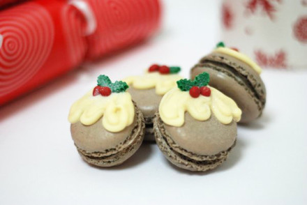 christmaspuddingmacarons