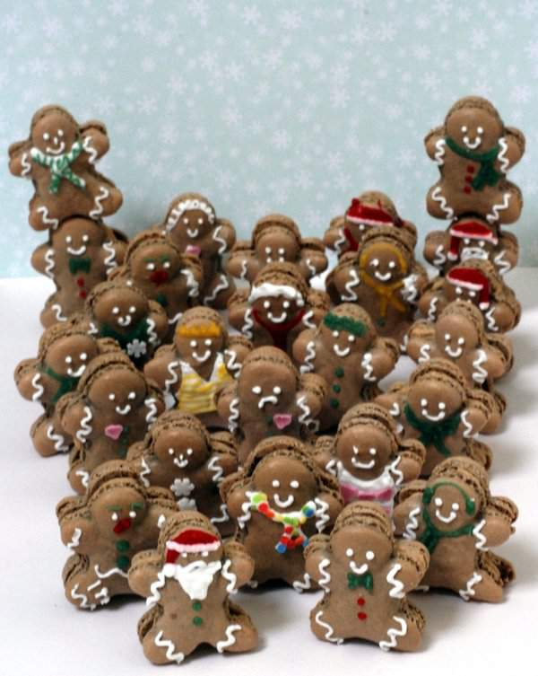 Gingerbread Man Macarons Group Shot