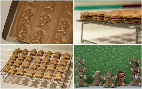 Gingerbread Man Macarons Making