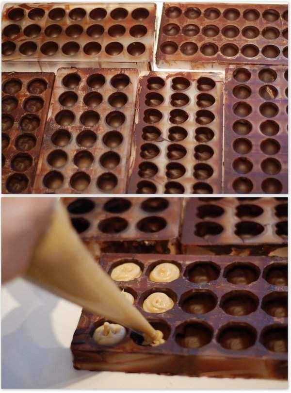 Making moulded truffles