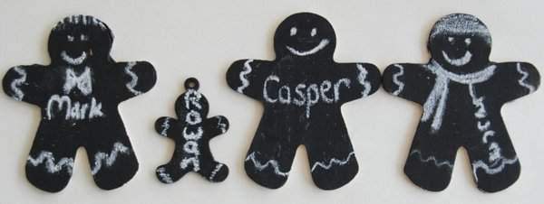 Chalkboard gingerbread family