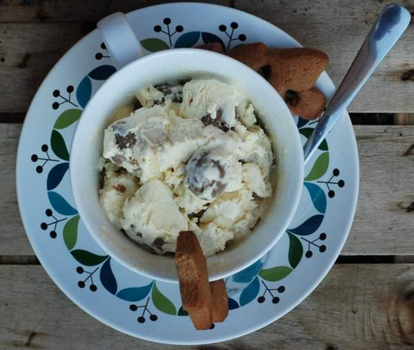 Choc Chip Gingerbread Cookie Dough Vanilla Ice Cream with Cookies
