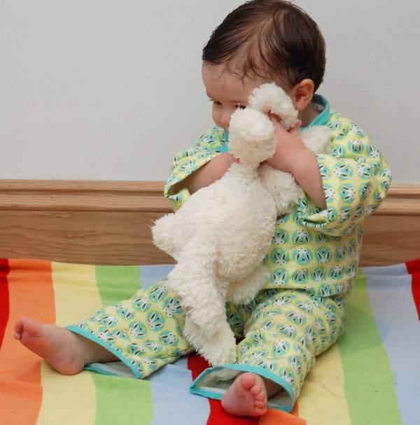 Rowan cuddling rabbit
