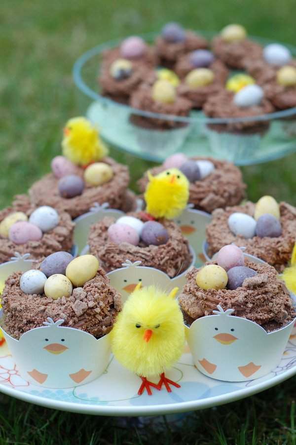 Chick's Easter Nest Cupcakes