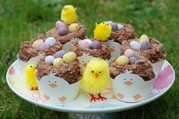 Chick's Nest Cupcakes