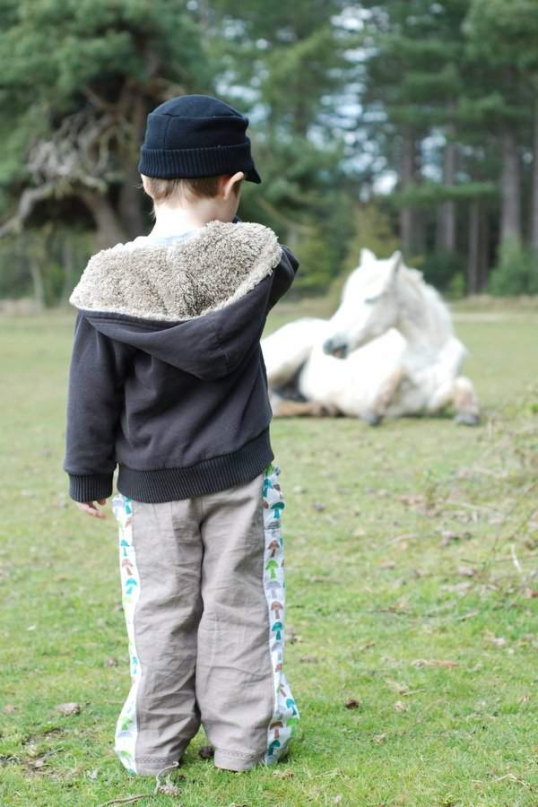 Treasure Pocket Pants and a white horse