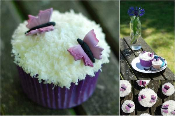 Coconut Cupcake Collage