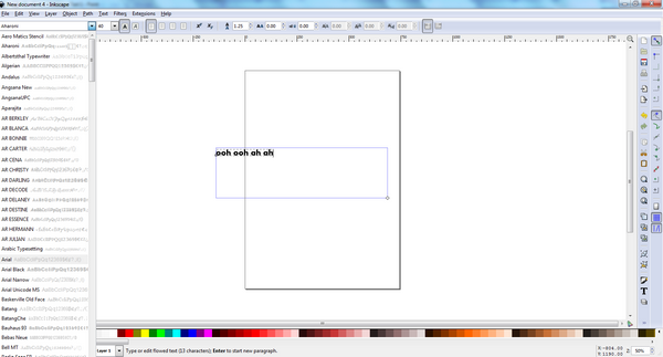 Inkscape Text 3