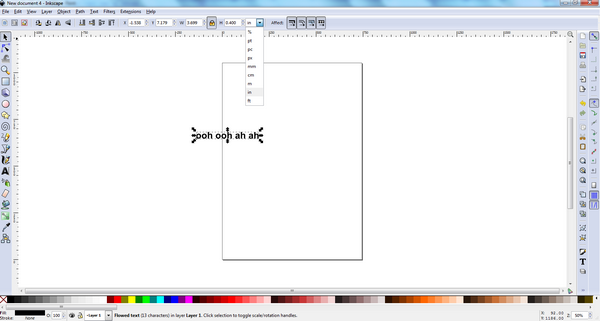 Inkscape Text 4