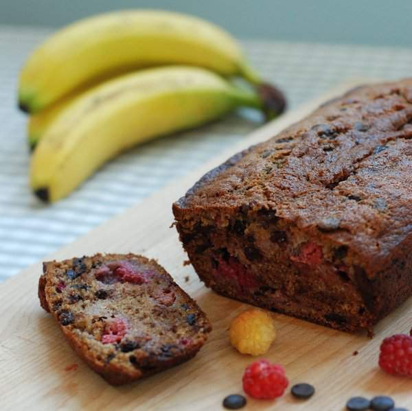 Cut banana loaf