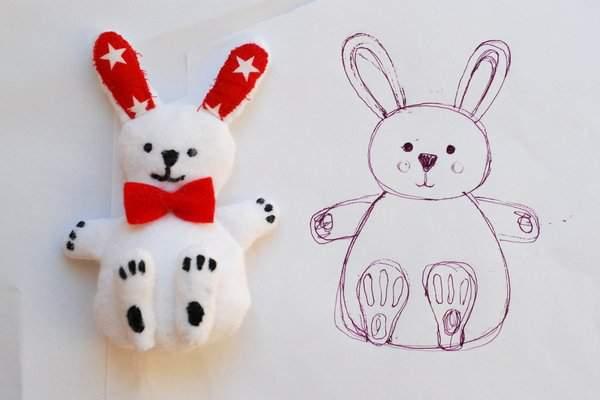 Soft toy vs sketch