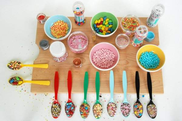 Sprinkles and spoons