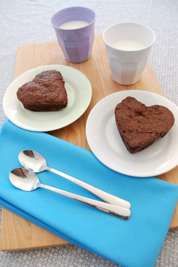 Baked Brownie Hearts