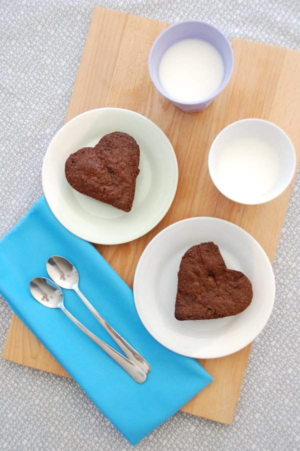 Baked Brownie Hearts 2