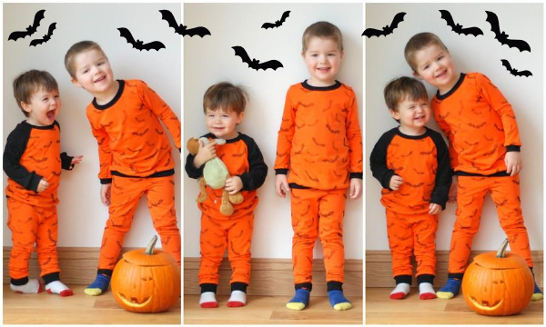 Hand Stamped Halloween PJs