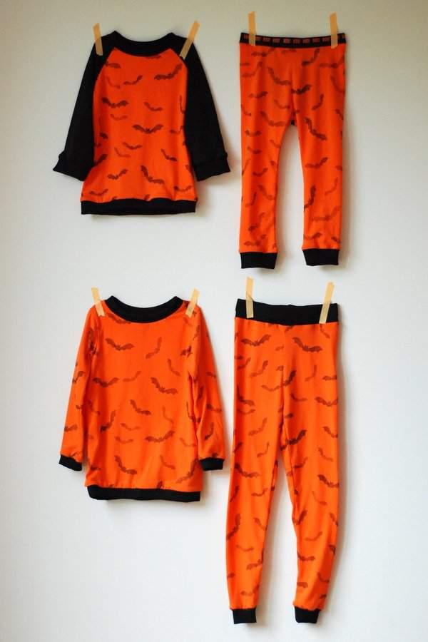Hand Stamped Halloween PJs 2