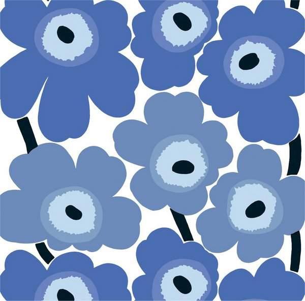 Marimekko Unikko Print in Blue