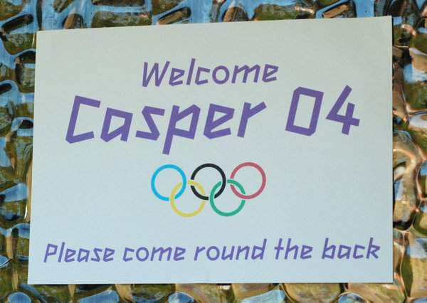 Casper 04 front door sign