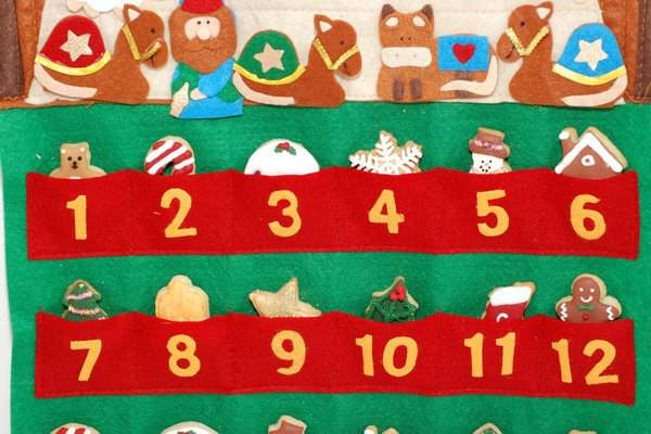 Mini Christmas Cookie Advent Calendar 2