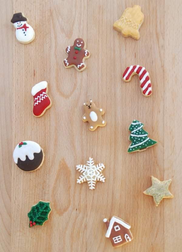 Mini Christmas Cookies for Advent Calendar 3