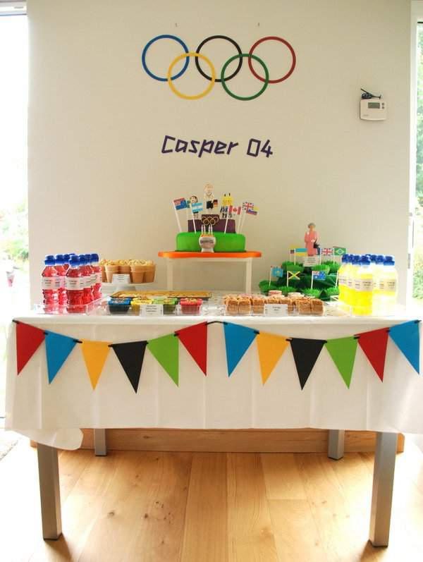 Olympic Dessert Table