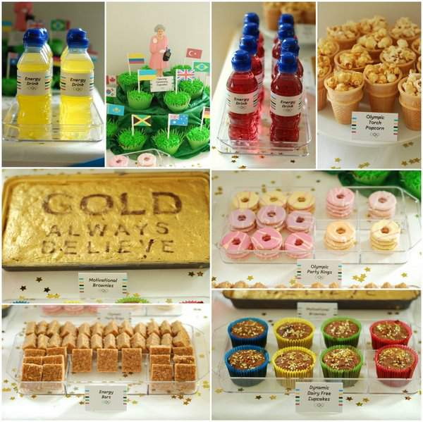 Olympic Party - Food Collage