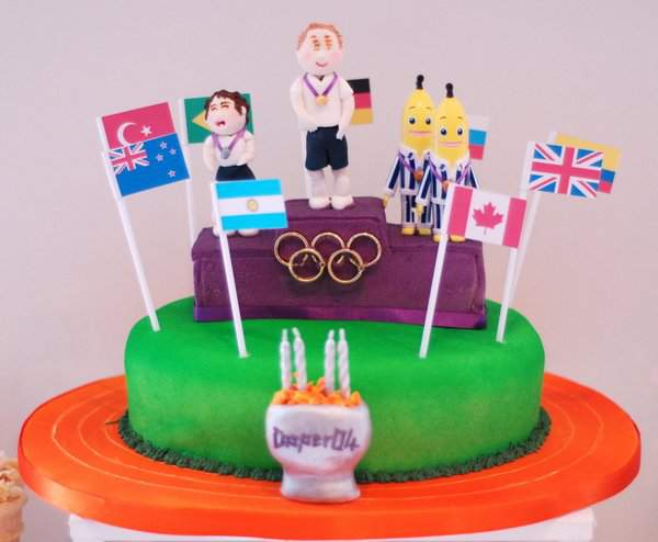 Olympic Podium Birthday Cake