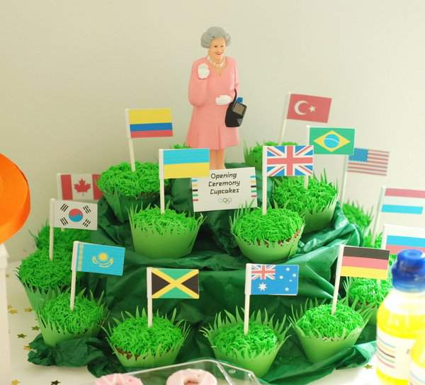 Opening Ceremony Cupcakes