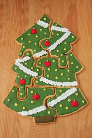 Christmas Tree Cookie Puzzle