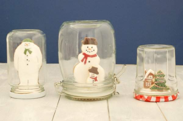 Mini Jam Jar Cookie Snowglobes