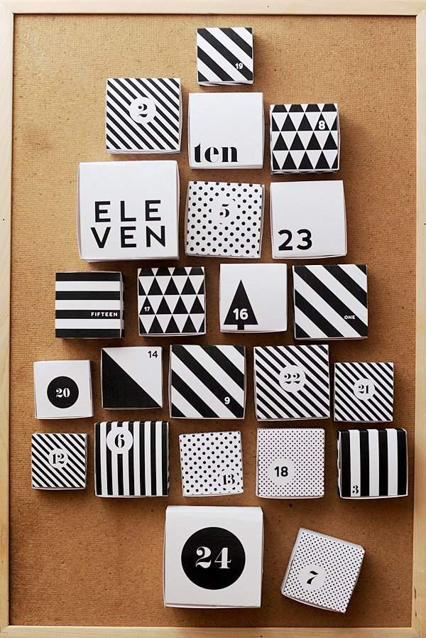 Modern Printable Advent Calendar