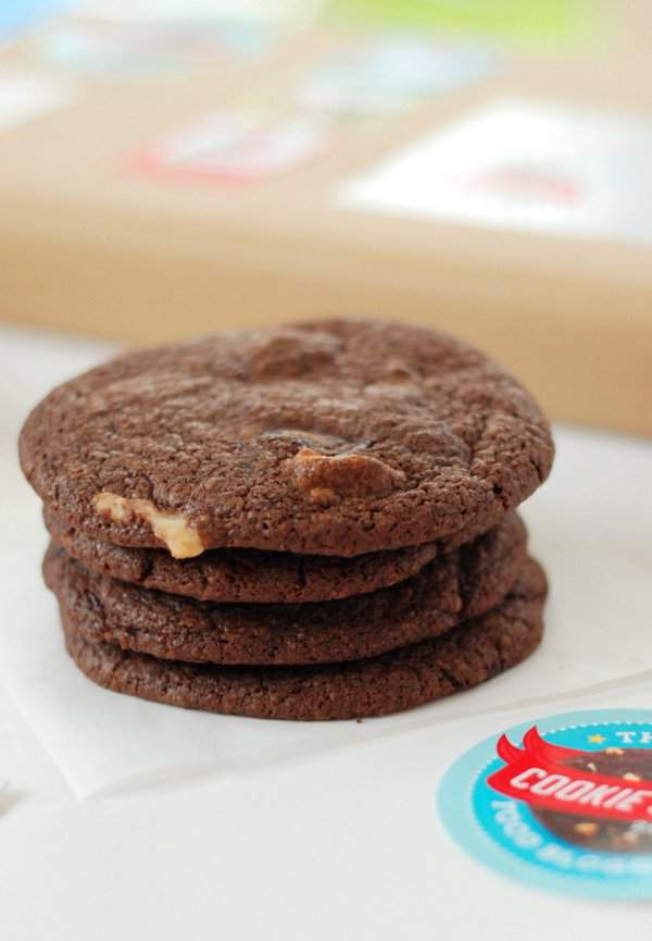 Sea Salted Double Choc Marzipan Cookies 2