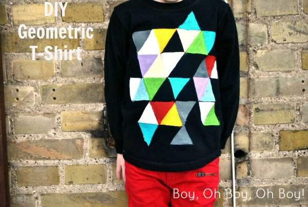 DIY Geometric T-shirt