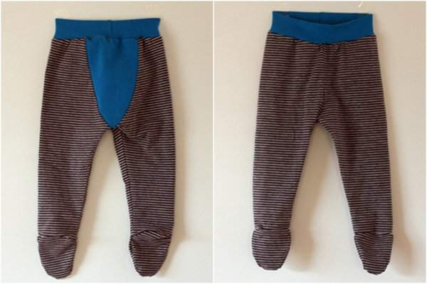 Fancy Pants Leggings with feet by Abby from Things for Boys