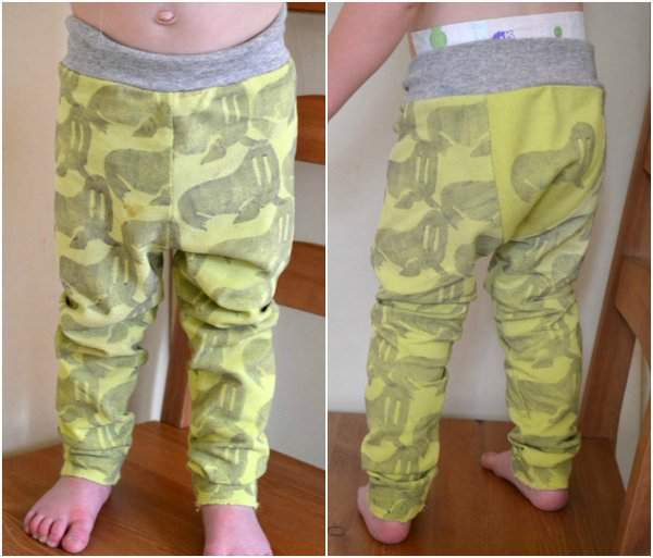 Hand Stamped Walrus Fancy Pants Leggings by Heather from Feather's Flights