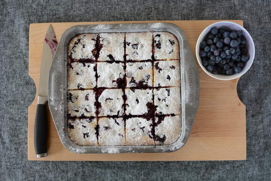 Coconut, Lime and Blueberry Slice