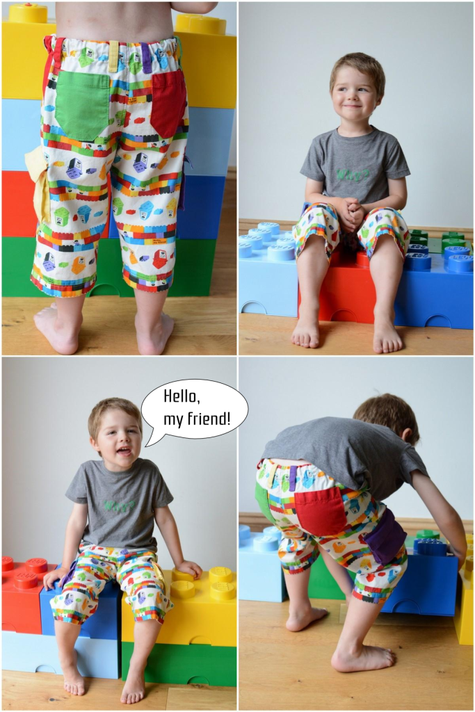 Rainbow Lego Shorts by Craftstorming - Collage 1