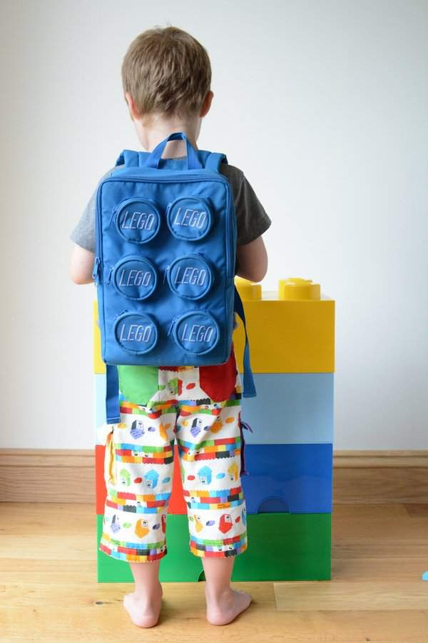 Rainbow Lego shorts by Craftstorming - back view