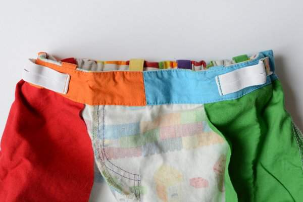 Rainbow Lego Shorts by Craftstorming - waistband