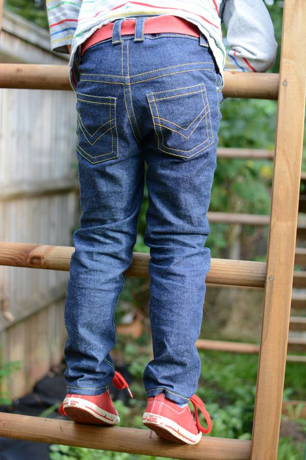 Small Fry Skinny Jeans pattern by Titchy Threads