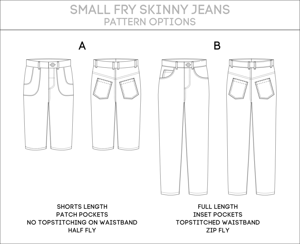 Small Fry Skinny Jeans Pattern Options