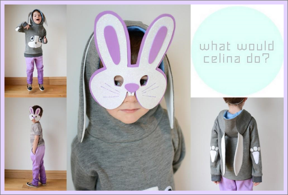 Rabbit Hoodie and Dip Dye Sweatpants Inspired by Celina
