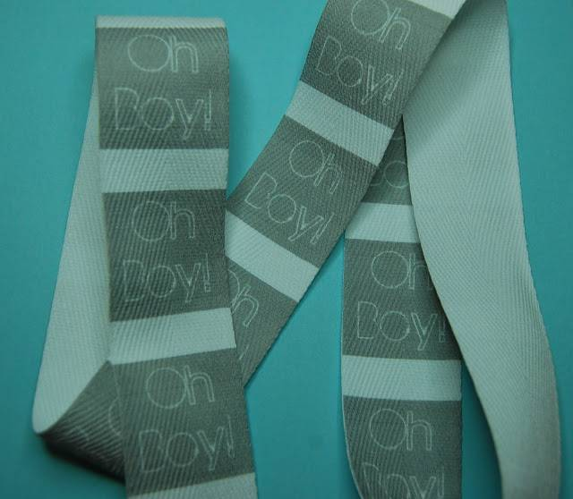 Custom twill tape labels from Boy, oh boy, oh boy
