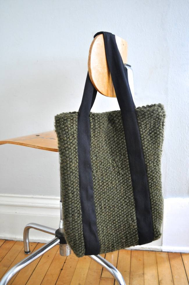 Knitted tote by Meg from Elsie Marley