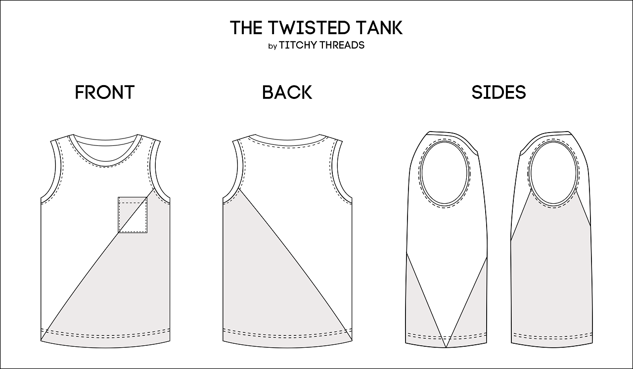 Twisted Tank Sketch