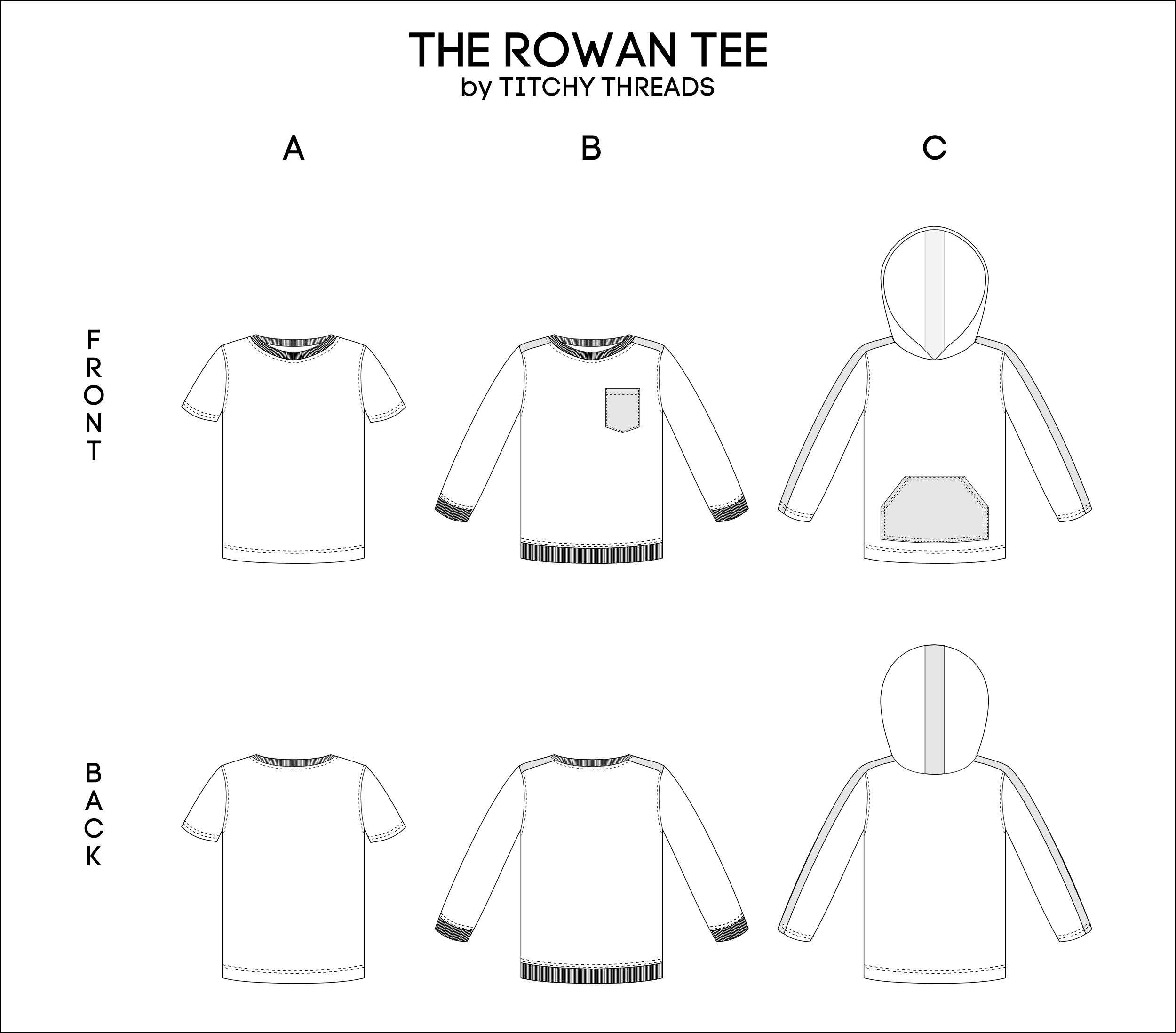 Rowan Tee Options