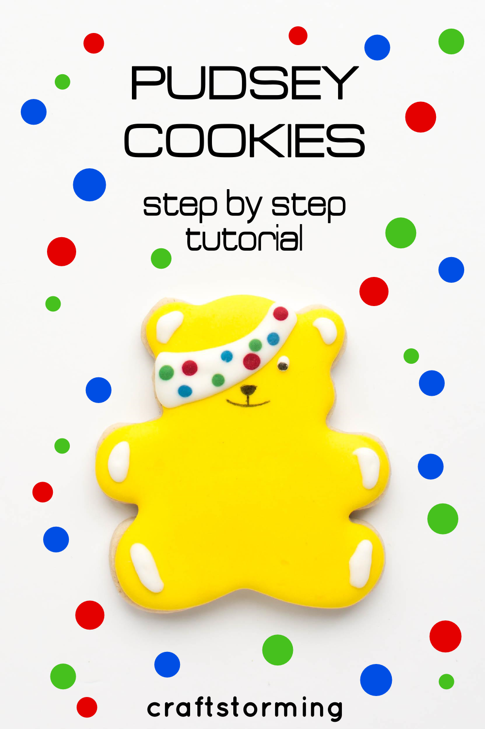 How To: Decorate Pudsey Cookies – Craftstorming