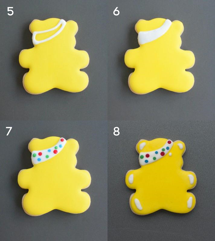Pudsey tutorial steps 5 to 8