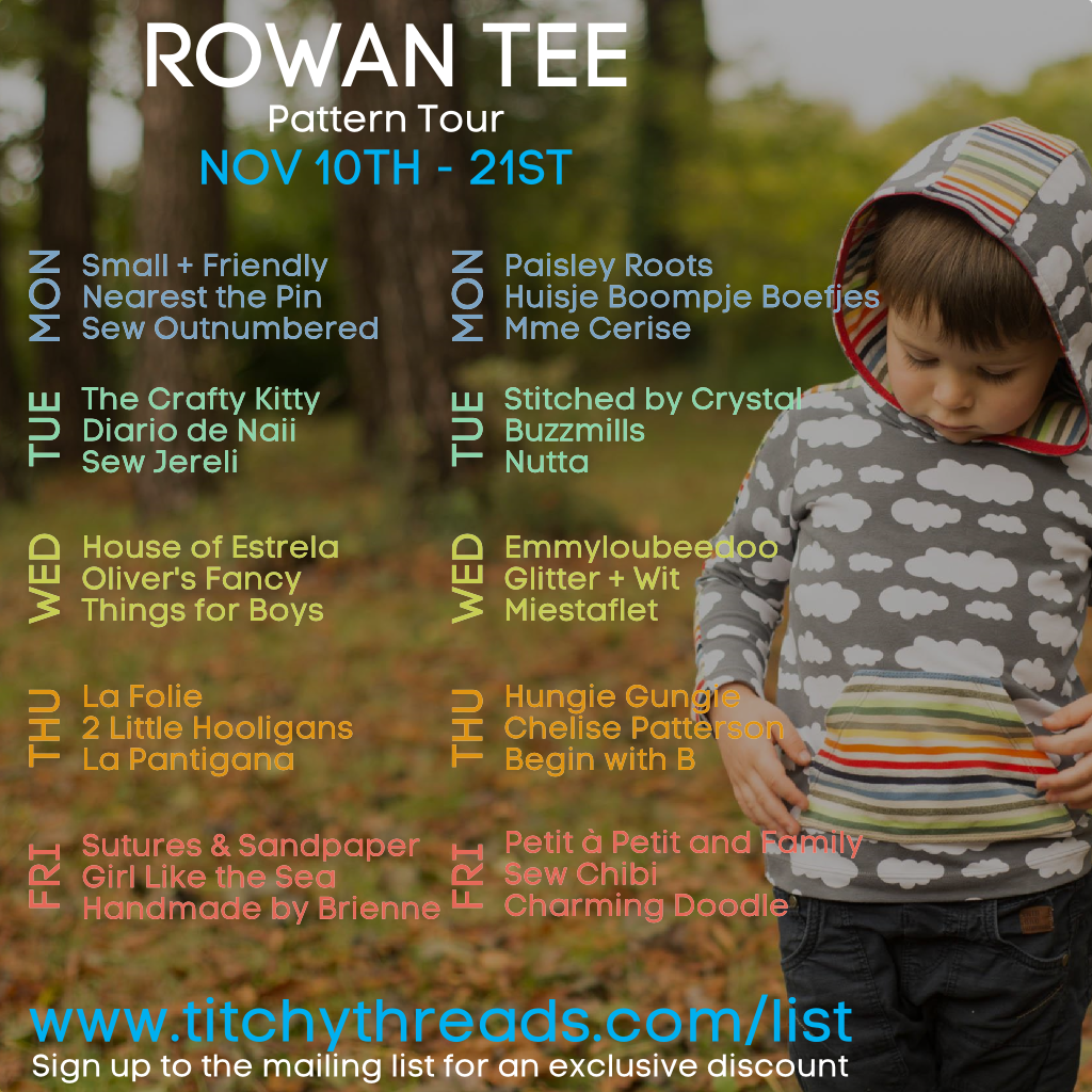 Rowan Tee Pattern Tour Guests