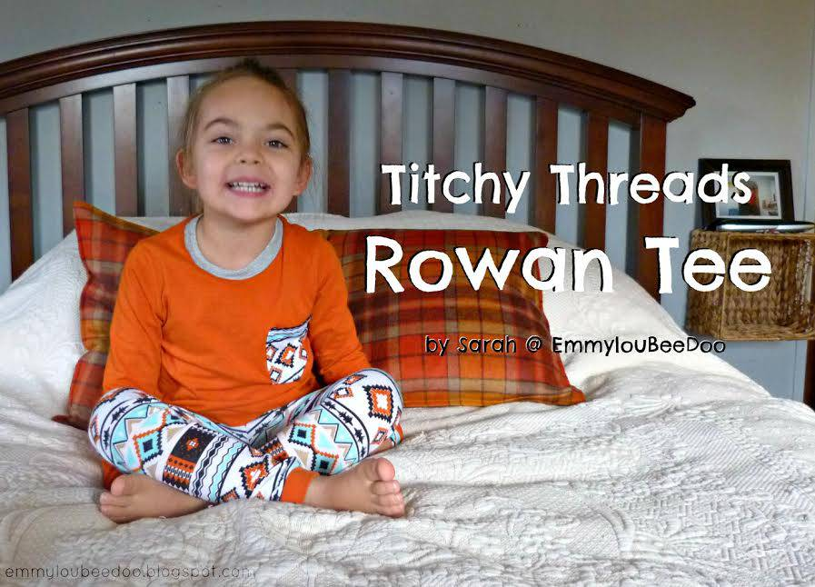 Rowan Tee and Fancy Pants Leggings by Sarah of Emmyloubeedoo
